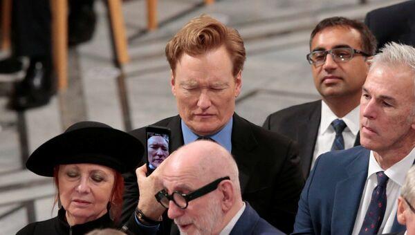 Американский комик Конан О'Брайен во время церемонии награждения Нобелевской премии мира в Осло