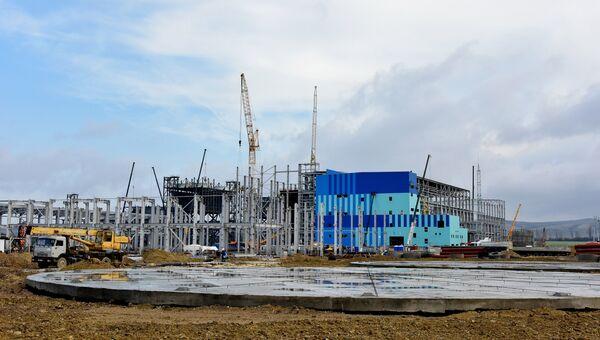 Строительство Симферопольской ПГУ-ТЭС. Архивное фото
