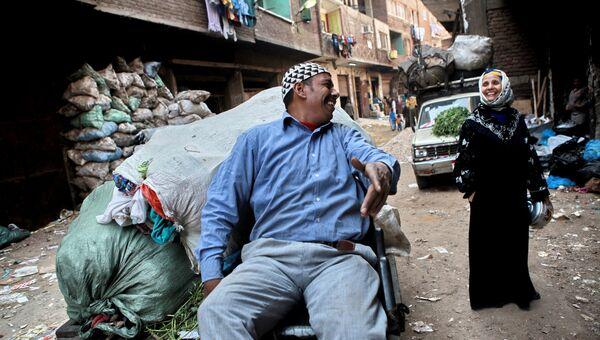 Жители района Маншият-Насир на окраине Каира, так называемого города мусорщиков