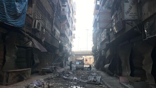 Улица освобожденного квартала восточного Алеппо. Архивное фото