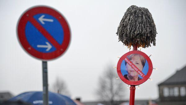 Акция движения PEGIDA в Дрездене. Архивное фото