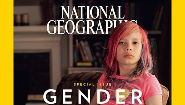 Обложка журнала National Geographic с фотографией трансгедера