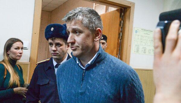 Бывший председатель правления компании РусГидро Евгений Дод в здании Басманного суда города Москвы. Архивное фото