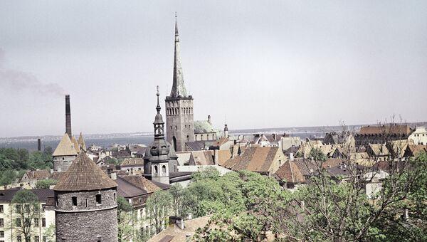 Вид на старинные бастионы и крепость Олевисте. Таллин, Эстония