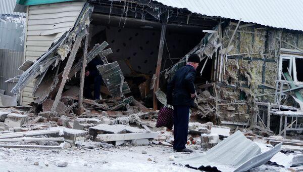 Последствия обстрела украинскими силовиками города Дебальцево в Донецкой области. Архивное фото