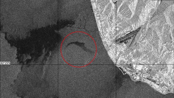Радиолокационное изображение района катастрофы самолета Ту-154 в Сочи