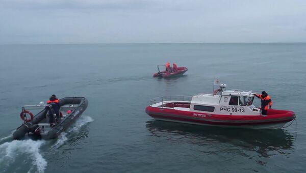 Поисковые работы в акватории Черного моря в районе крушения самолета ТУ-154 в Сочи. 27 декабря 2016
