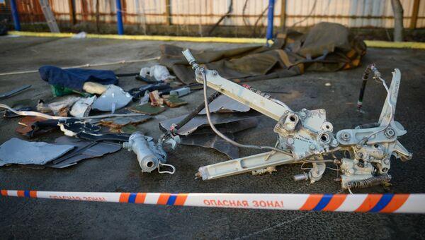 Найденные фрагменты самолета Ту-154, потерпевшего крушение над Черным морем у берегов Сочи