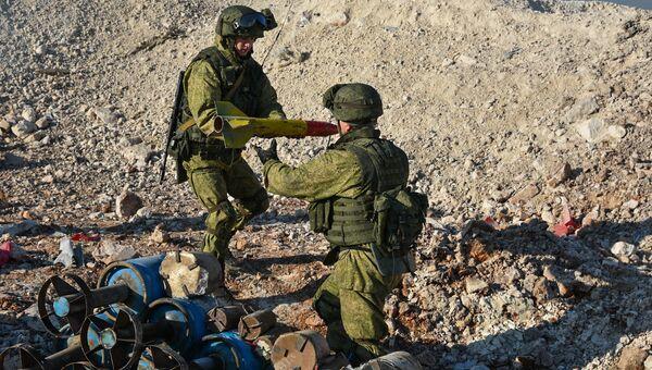 Работа инженеров Международного противоминного центра Вооруженных Сил России в освобожденном Алеппо