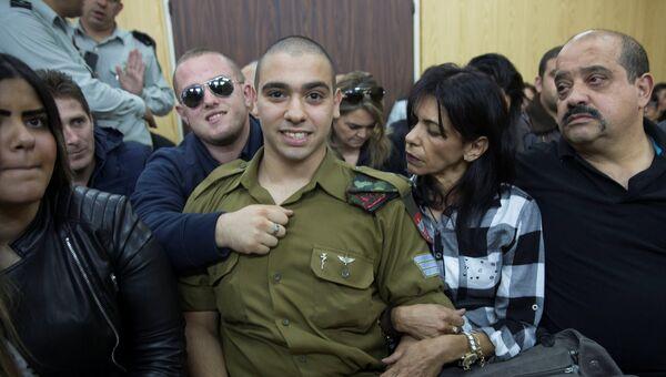 Израильский солдат Элор Азария во время суда над ним, 4 января 2017