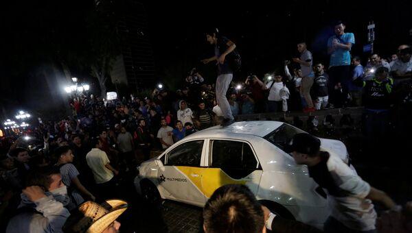 Протесты в Мексике против повышения цен на бензин