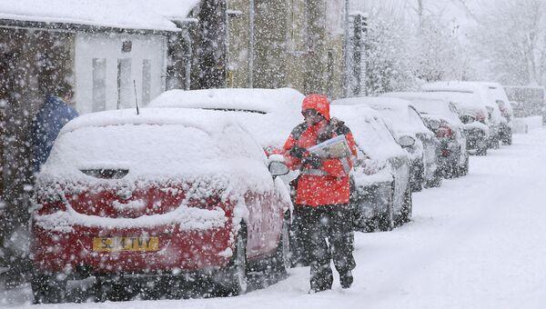 Снегопад в Великобритании. Архивное фото