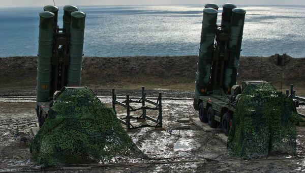Зенитный ракетный комплекс С-400 Триумф полка противовоздушной обороны в Феодосии