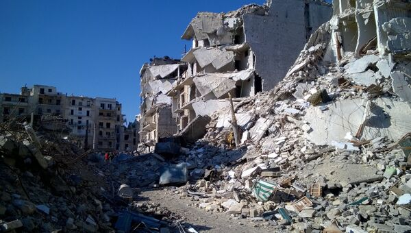 Разрушенные дома в освобожденном районе Аль Сукари в Алеппо. Архивное фото
