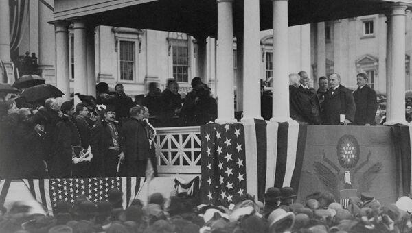 Президент Уильям Мак-Кинли назначен на второй срок, округ Колумбия, США, март 1901