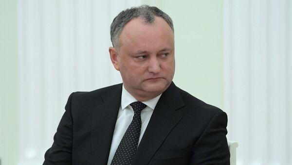 Президент Молдовы Игорь Додон. Архивное фото