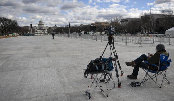 Оператор на Национальной аллее в Вашингтоне