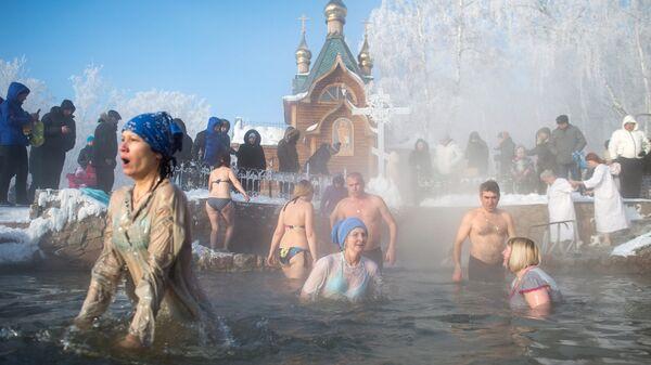 Празднование Крещения в Омской области. 19 января 2017