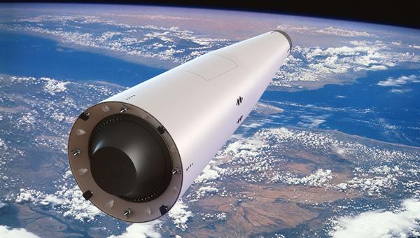 Одноступенчатая многоразовая ракета-носитель Корона в орбитальном полете (иллюстрация)