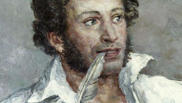 Фрагмент картины Александр Сергеевич Пушкин работы художника Петра Кончаловского. Архивное фото