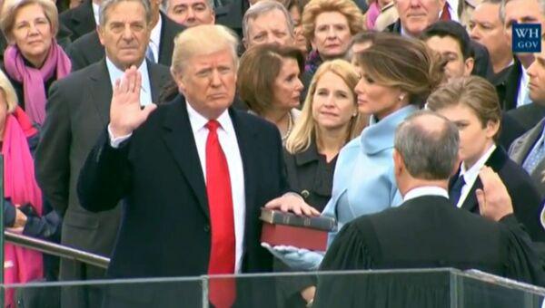 Присяга и первая речь 45-го президента США Дональда Трампа