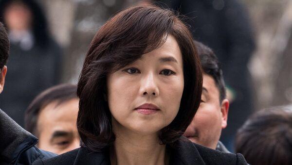 Министр культуры, спорта и туризма Южной Кореи Чо Юн Сун в суде, 20 января 2017