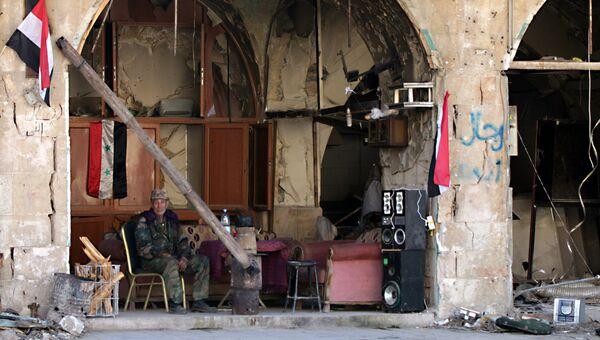 Возле Цитадели Алеппо