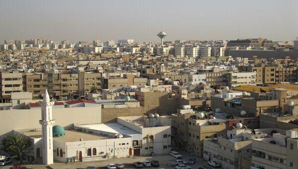 Вид города Эр-Рияд - столицы Саудовской Аравии. Ахивное фото