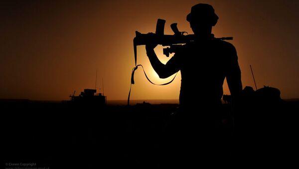 Британский военнослужащий. Архивное фото