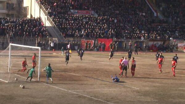 Сирийские футболисты впервые за пять лет провели матч в Алеппо