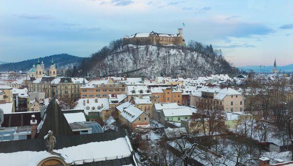 Панорама Любляны, Словения. Архивное фото