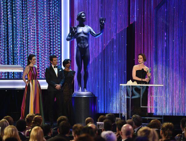 Сара Полсон на церемонии вручения премии Гильдии киноактеров США в Лос-Анджелесе