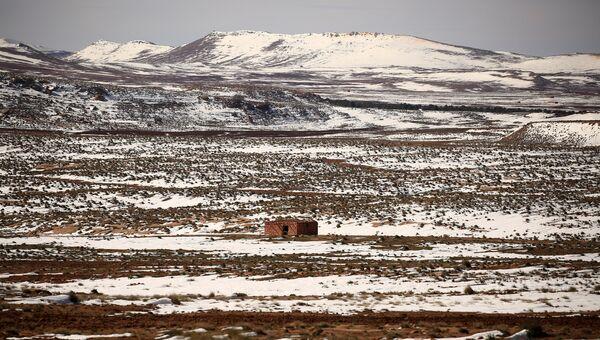 Сахарский Атлас под снегом в Алжире