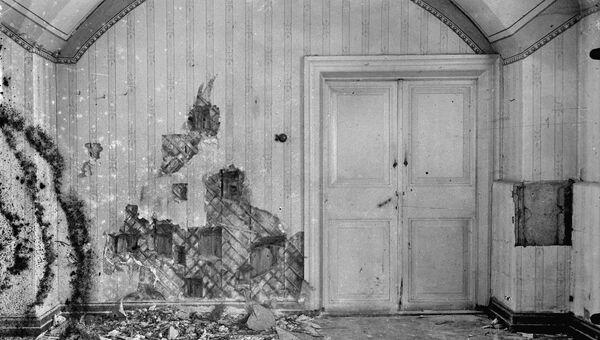 Комната в подвале дома Ипатьева, где была расстреляна царская семья в ночь с 16 на 17 июля 1918 года