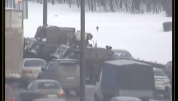 В ГАИ опровергли слухи об аварии с участием бронетранспортеров на МКАД