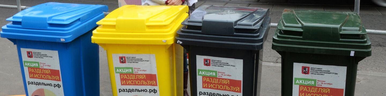 На работе вам понадобилось выбросить бумажный стаканчик из-под кофе в один из контейнеров для раздельного сбора мусора. Какого обычно цвета тот, что для бумаги?