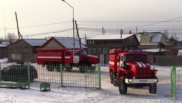 Пожарные машины ГУ МЧС по республике Саха (Якутия). Архивное фото
