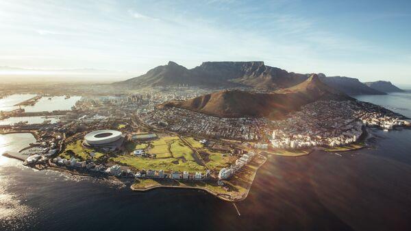 Кейптаун с высоты птичьего полета, Южная Африка