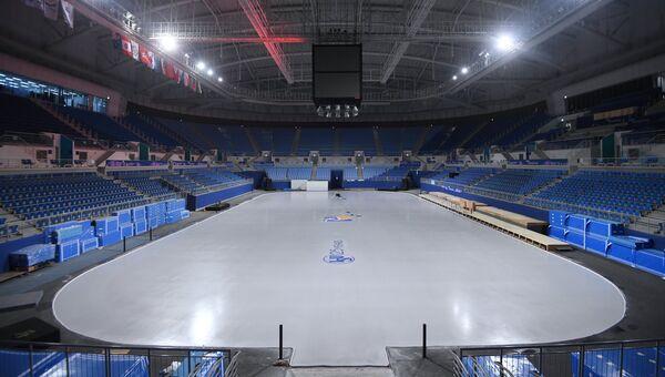 Вид стадиона Кёнпхо в Олимпийском парке в Пхенчхане