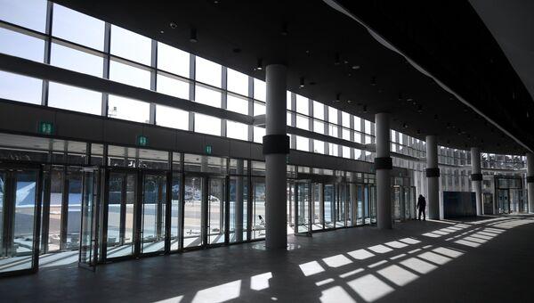 Холл стадиона Кёнпхо в Олимпийском парке Пхенчхана
