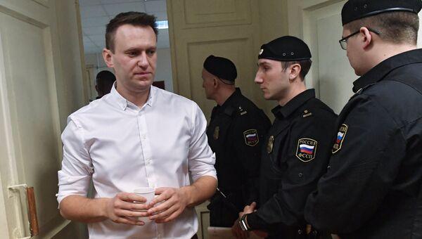 Политик Алексей Навальный в Ленинском районном суде города Кирова. 8 февраля 2017