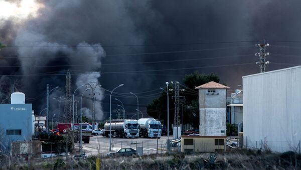 Пожар на испанском химическом предприятии Indukern