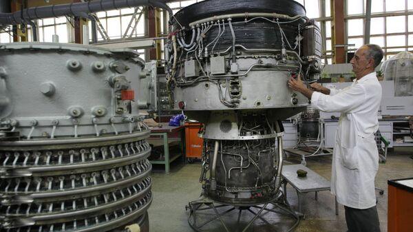 В цеху ОАО Мотор Сич в Запорожье. Архивное фото