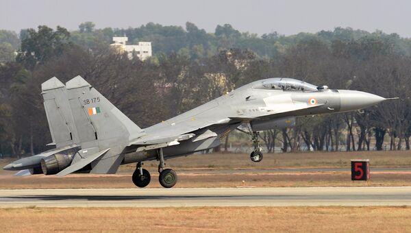 Истребитель Су-30МКИ ВВС Индии. Архивное фото