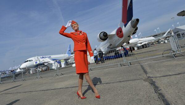 Бортпроводница авиакомпании Аэрофлот. Архивное фото