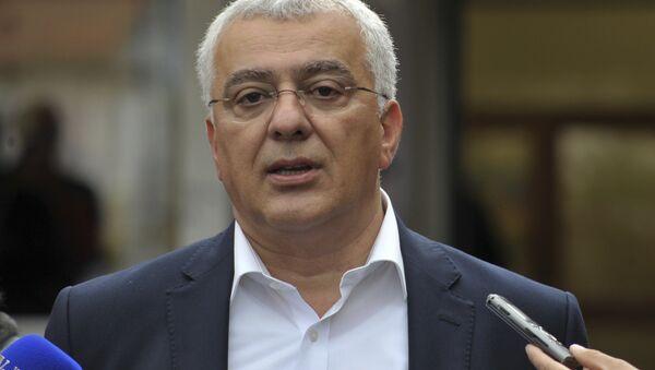 Лидер объединенной оппозиции Демократический фронт парламентарий Андрия Мандич, Черногория. Архивное фото