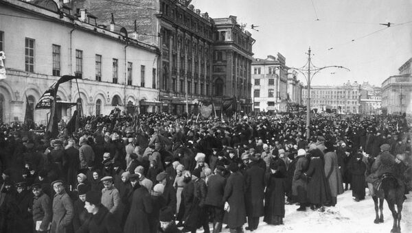 Демонстрация в Театральном проезде в Москве