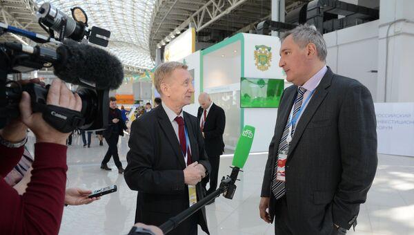Заместитель председателя правительства РФ Дмитрий Рогозин во время интервью телеканалу НТВ на Российском инвестиционном форуме в Сочи