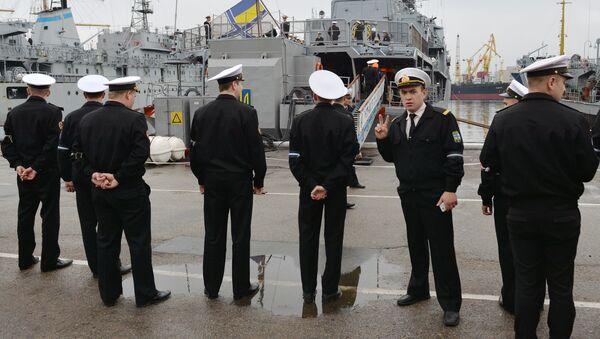 Украинские военные моряки в Одессе