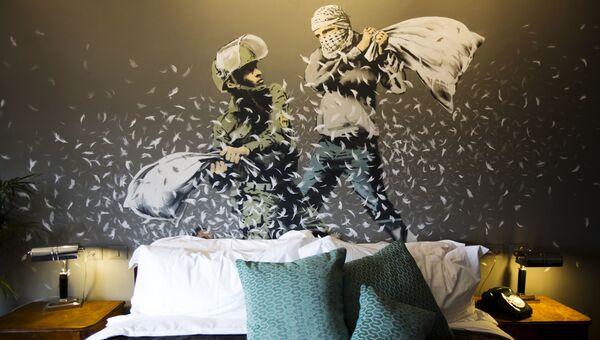 Отель Walled Off Hotel в Вифлееме, открытый художником Бэнкси